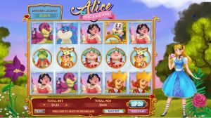 what do the alice in dreamland slots offer