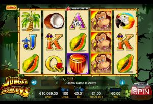 can you play games like jungle monkeys slots online