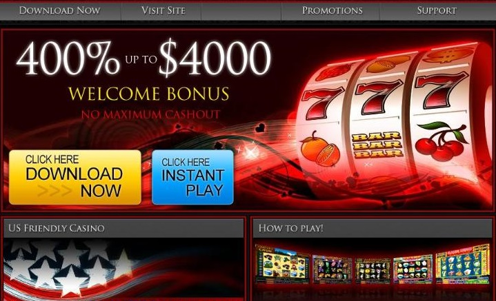 are there many slots at the lucky red casino site