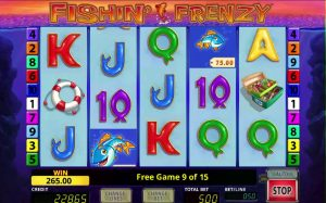 do the new fishin frenzy slots offer great features