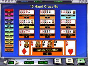 online video poker 10 hand