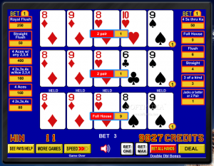 online video poker triple