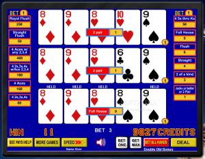 Freevideopoker.com free online video poker machines