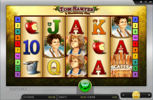 find the tom sawyer and huck finn slot machine